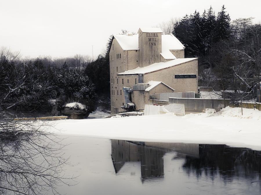 2014 Photograph - First Light - Elora Mill by Alan Norsworthy