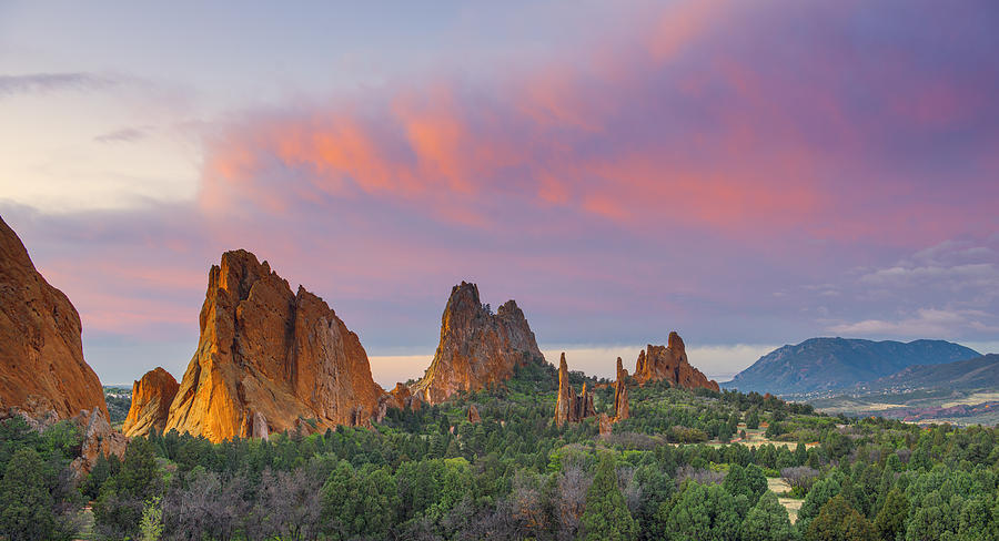 Garden Of The Gods Photograph - First Light Of Day by Tim Reaves