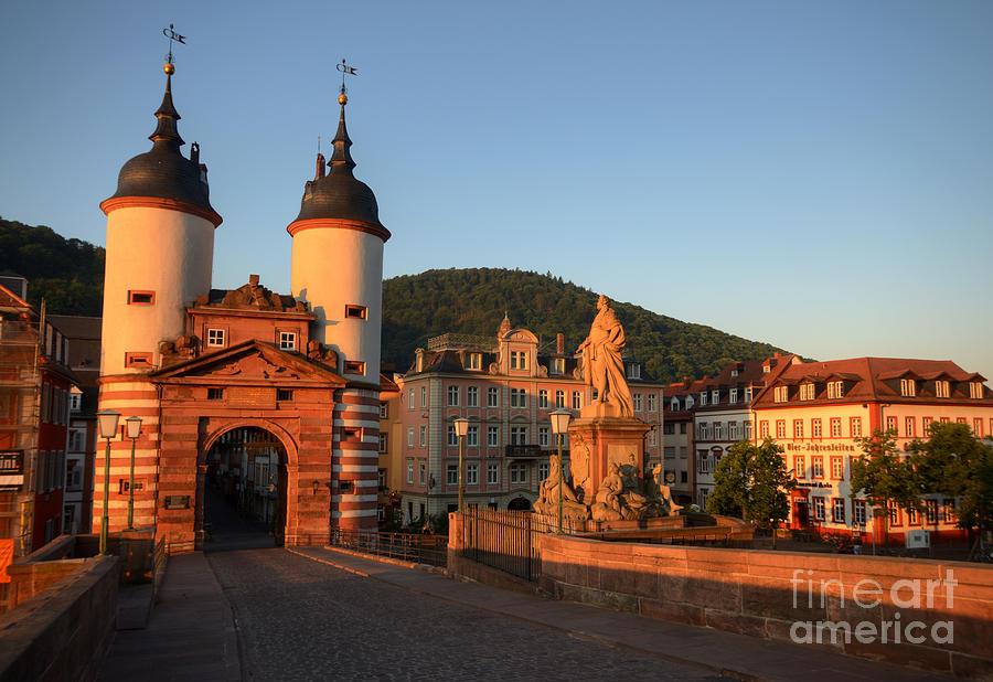 Heidelberg Photograph - First Light On The Brueckentor by Richard Fairless