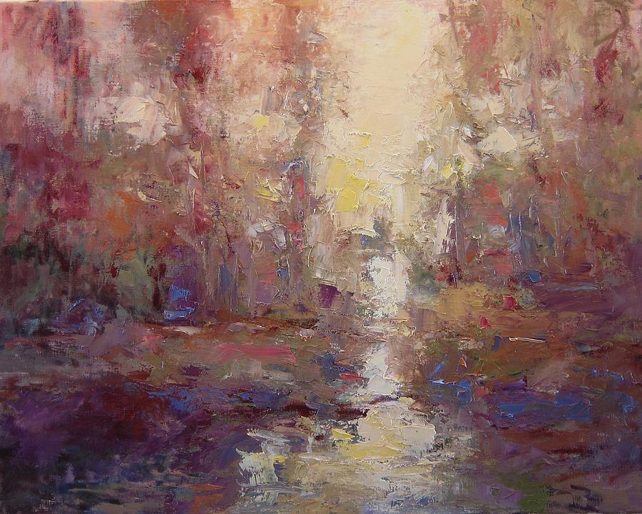 River Painting - First Light On The Tule River by R W Goetting