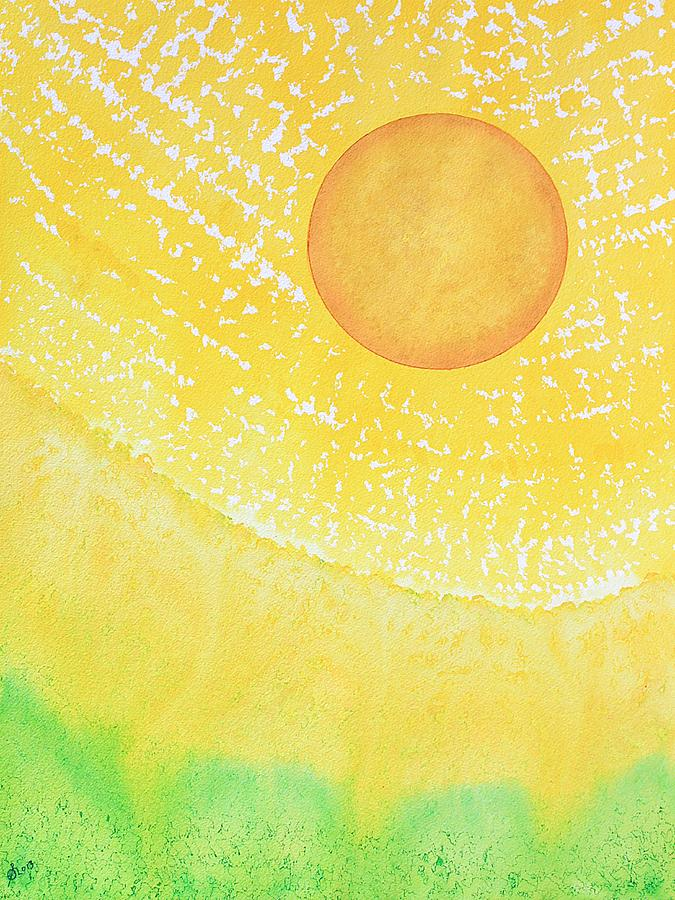 Ink Painting - First Light original painting by Sol Luckman