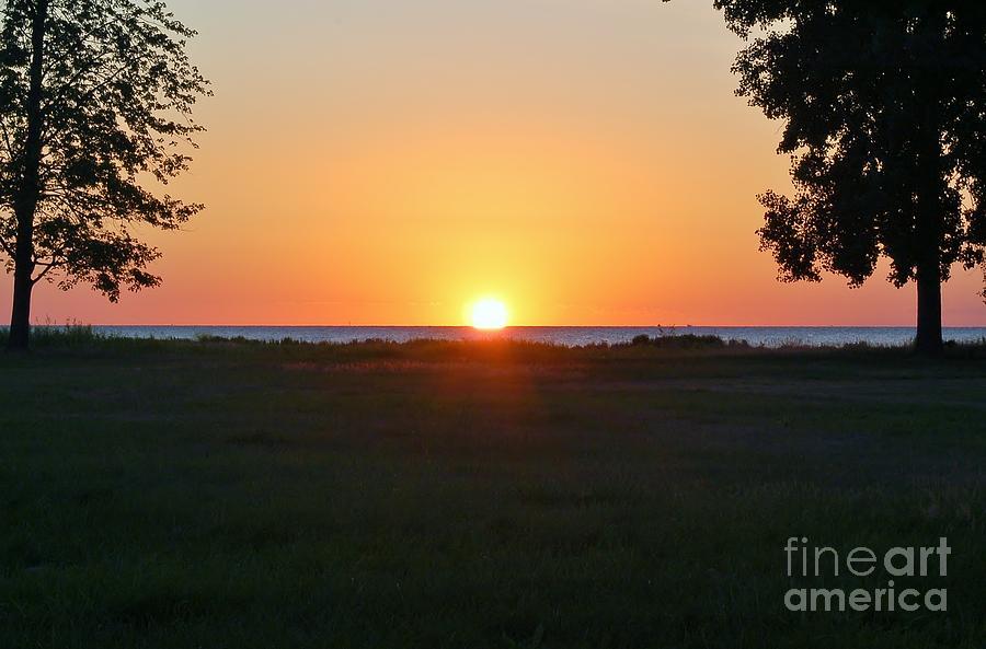 Lake Huron Photograph - First Light by Patrick Shupert