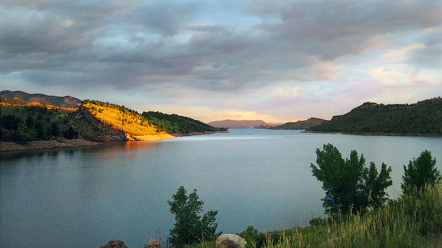 Horsetooth Reservoir Photograph - First Light by Ric Soulen