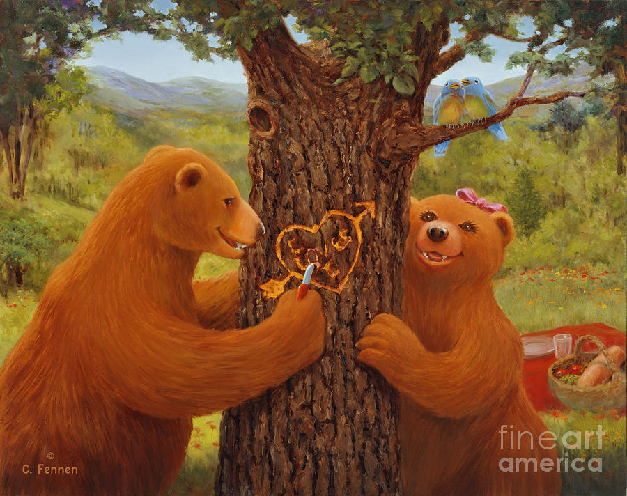 First Love Painting - First Love by Charles Fennen