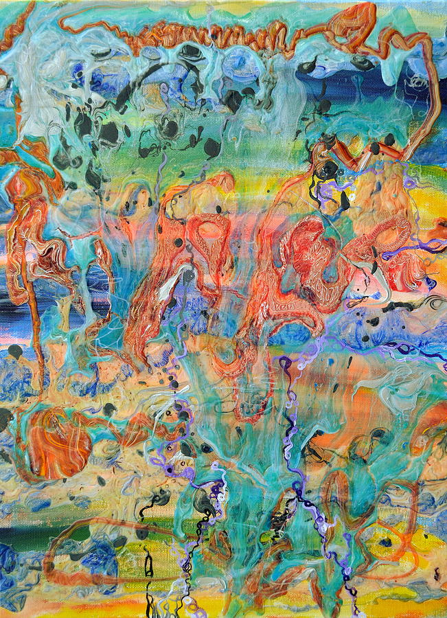 Big Bang Painting - First Microseconds by Regina Valluzzi