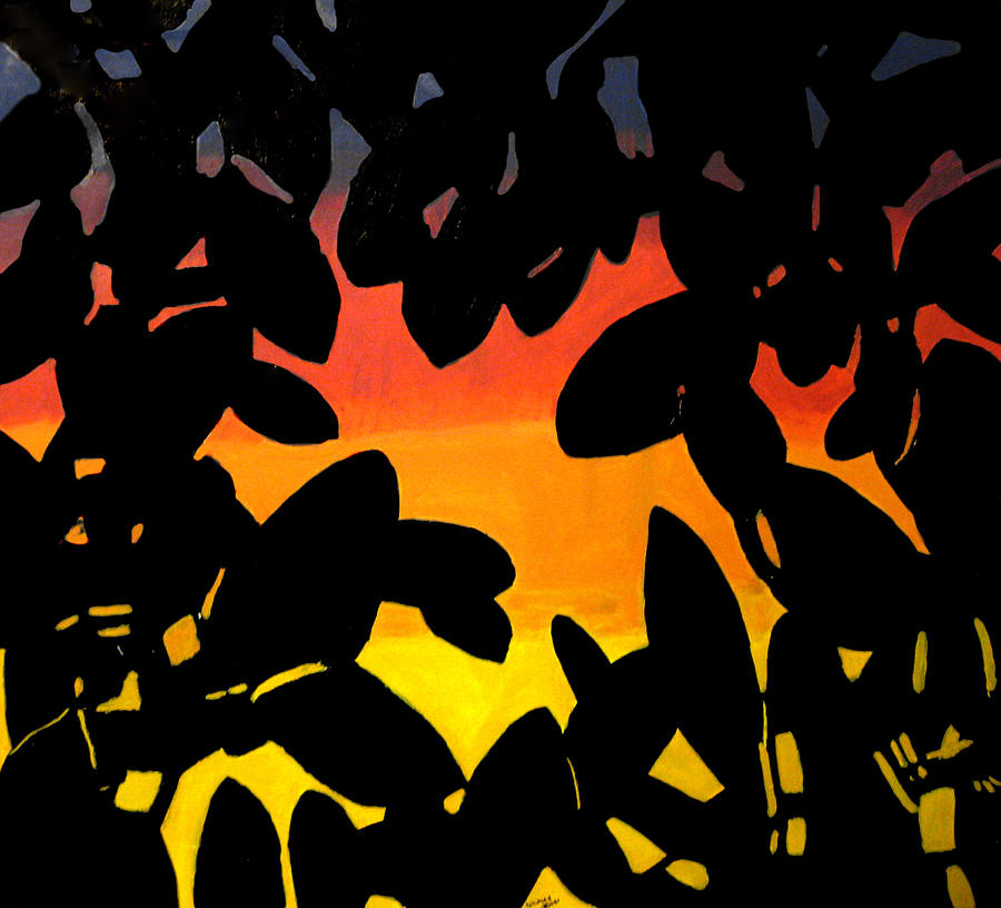 Leaves Painting - First Morning Awake by Whitney Wiedner