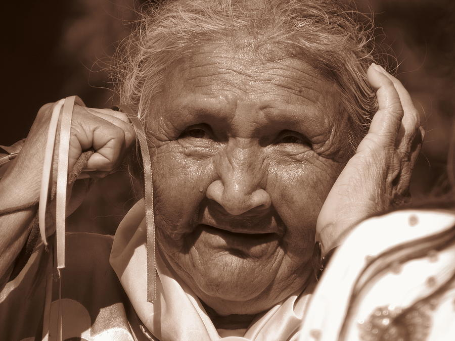 First Nations Elder Lady Photograph by Alex  Call