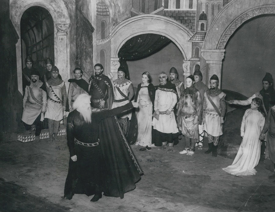 """Retro Photograph - First Night Of """"king Lear"""" by Retro Images Archive"""
