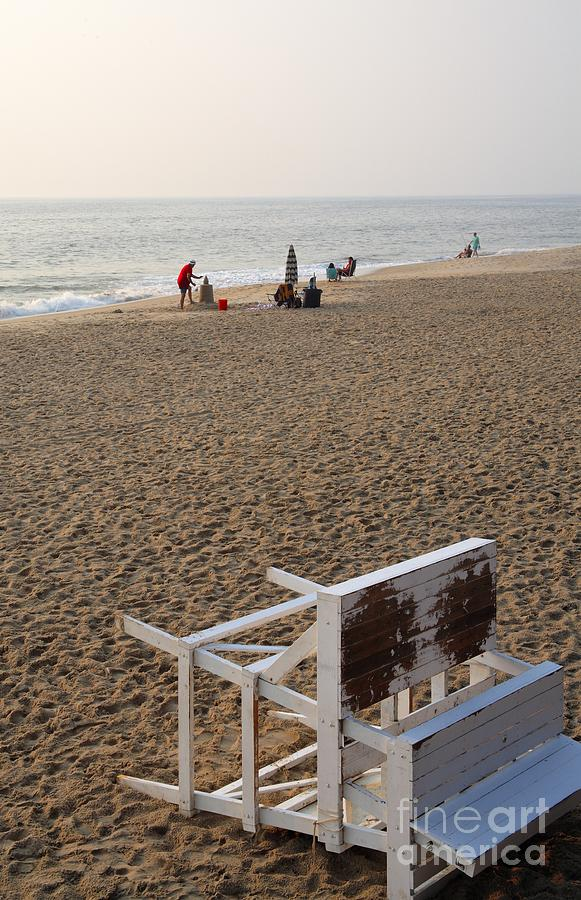 Atlantic Photograph - First On The Beach At Bethany Beach In Delaware by William Kuta