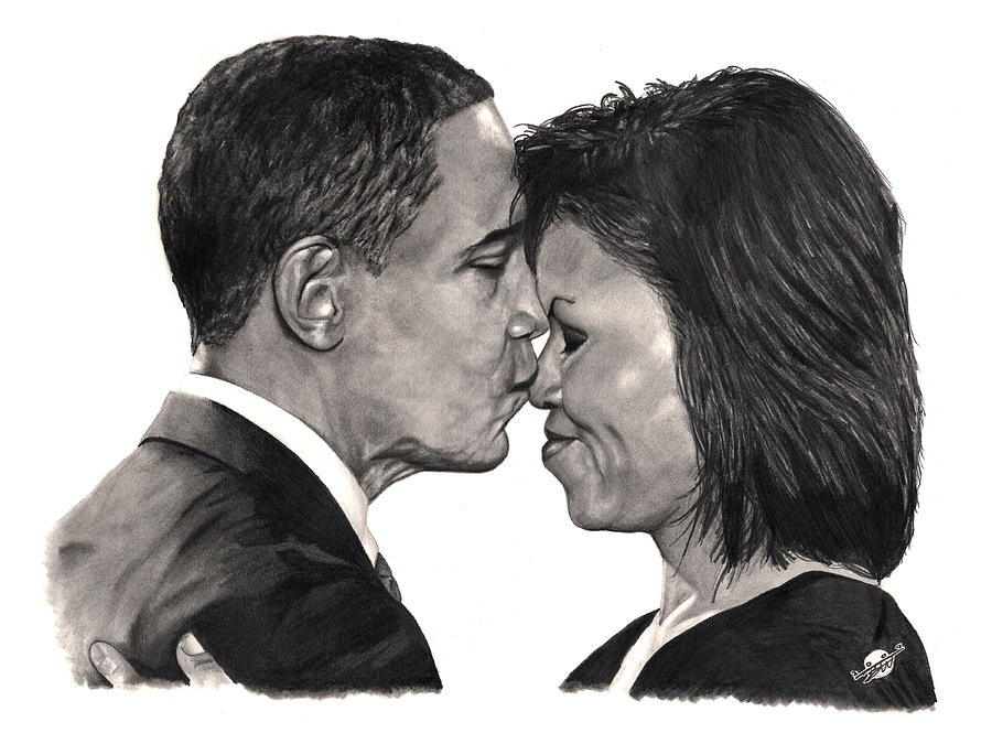 Obama Drawing - First Order Of Business by Brian Wylie