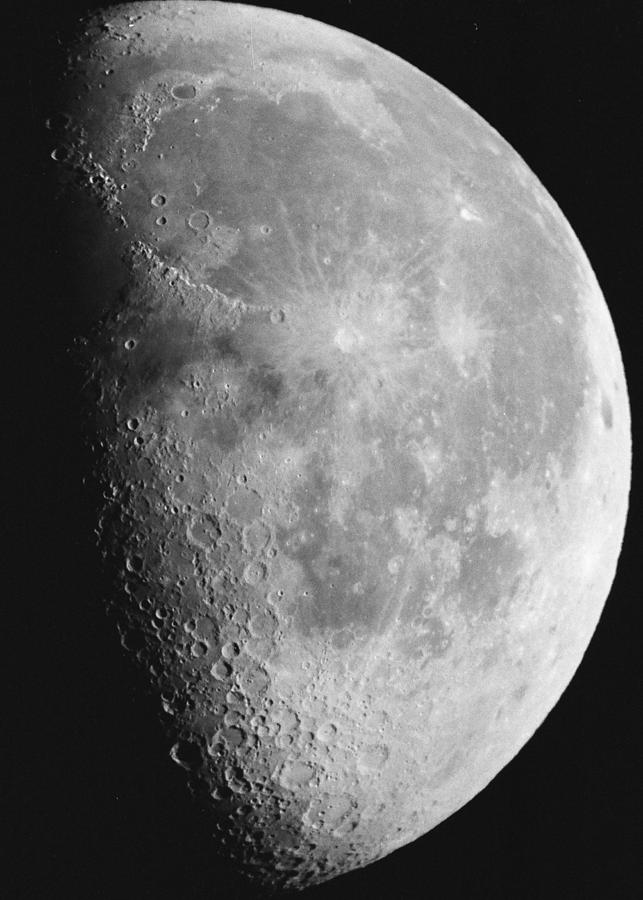 Moon Photograph - First Quarter Moon by Andre Bormanis