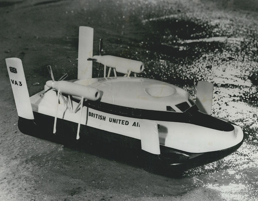 Retro Photograph - First Scheduled Hovercraft Service Planned For July by Retro Images Archive