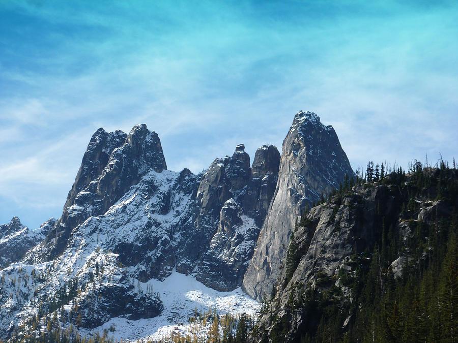 North Cascades Photograph - First Seasons Snowfall by Christine Burdine