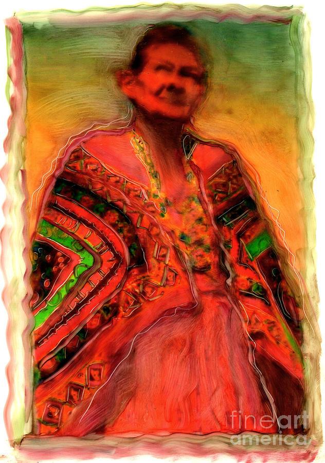 Native Elder Grandmothers First Nation Aboriginal Dreamtime Native American Spirituality Native Spirituality Painting - First Sight First Light by FeatherStone Studio Julie A Miller