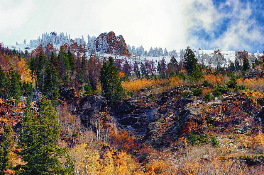 Mountains Photograph - First Snow by Brian Kerls