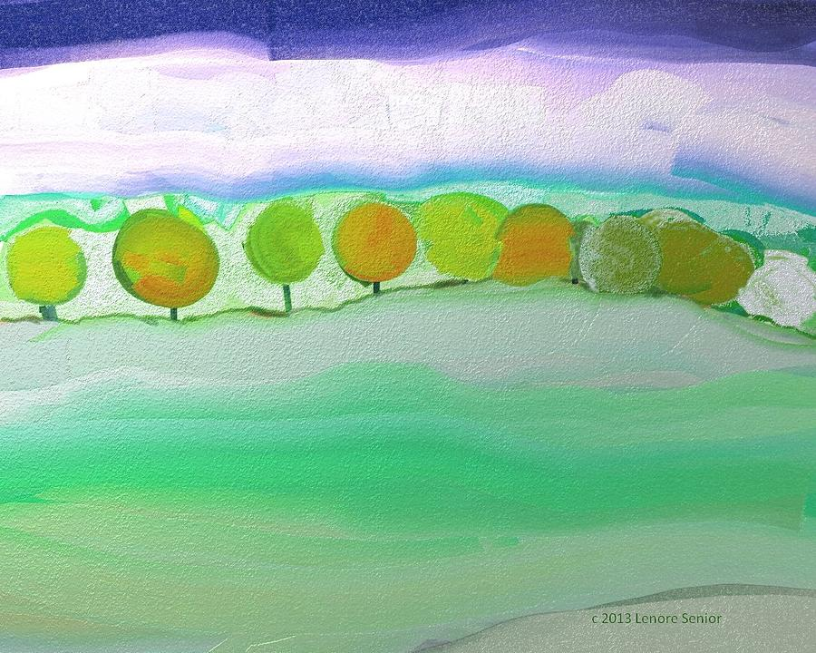 Minimal Painting - First Snow by Lenore Senior
