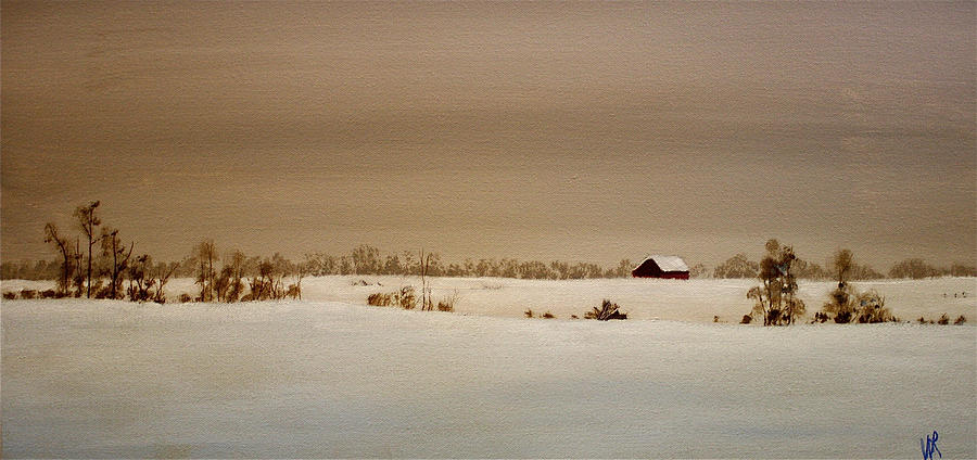 Acrylic Painting - First Snow by William Renzulli