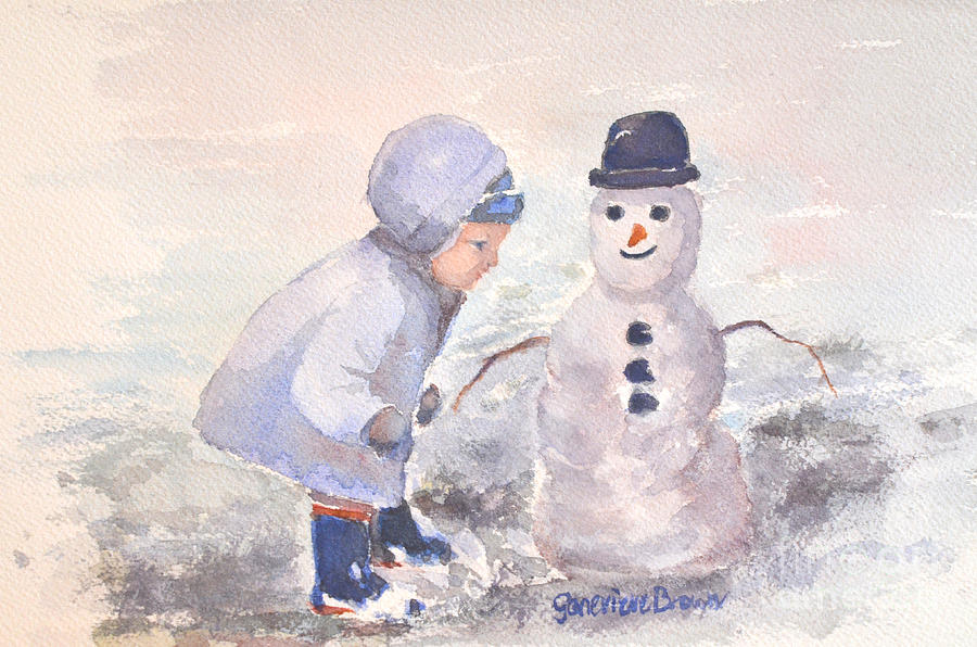 First Snowman by Genevieve Brown