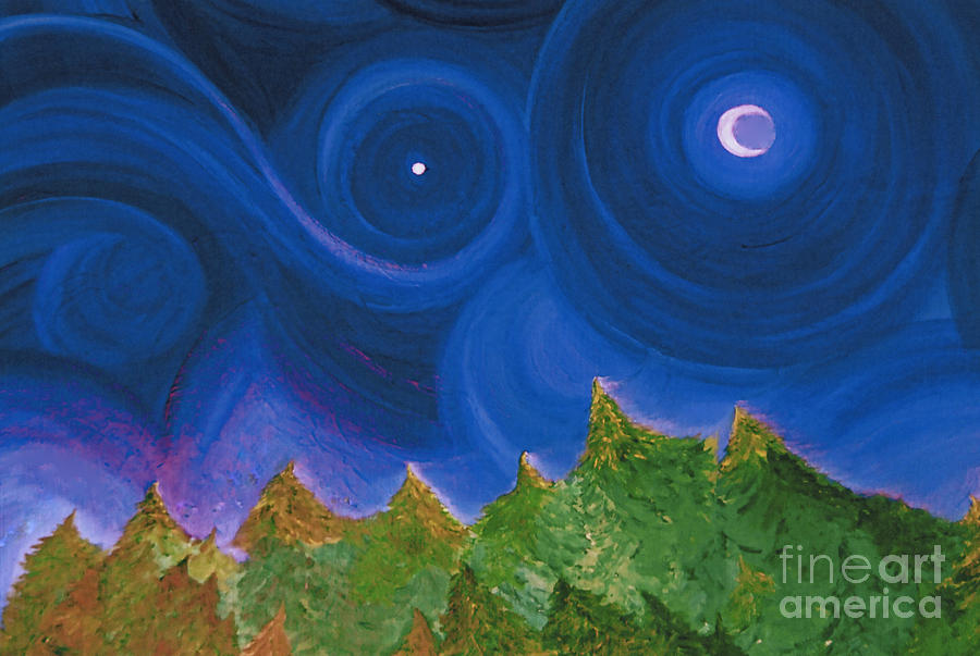 First Star Painting - First Star Wish By Jrr by First Star Art