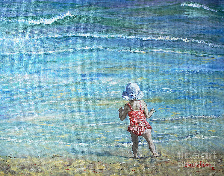 Ocean Painting - First Step Into the Unknown by Janis Lee Colon