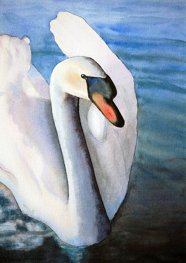 First Swan Painting