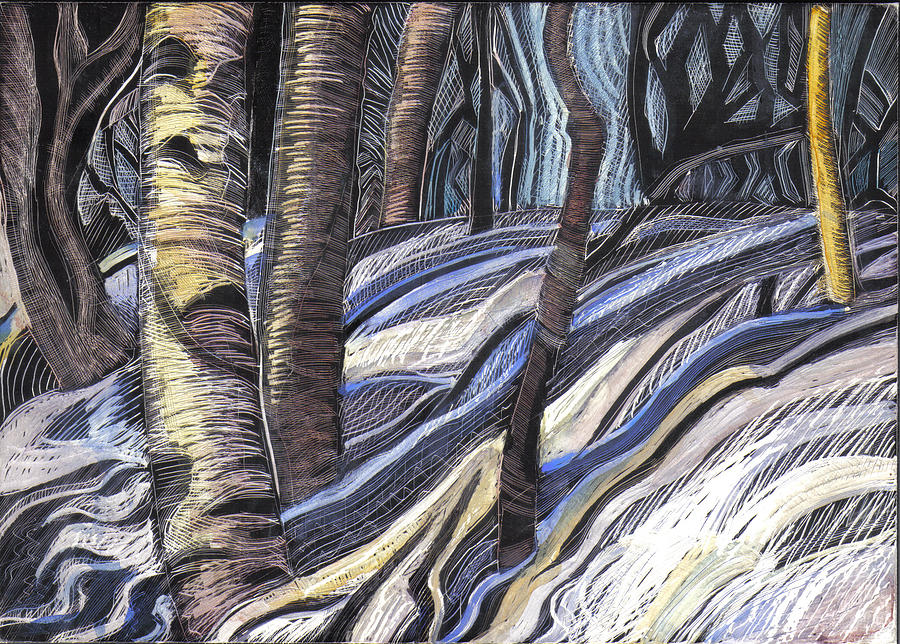 Maine Drawing - First Thaw by Grace Keown