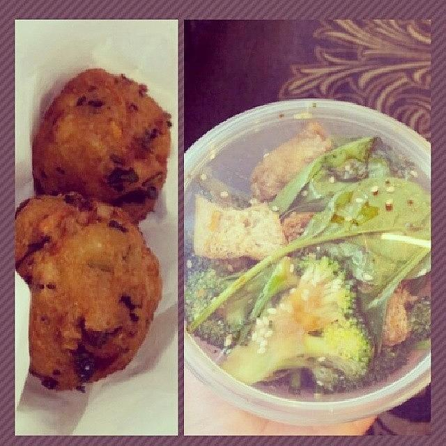 Vegan Photograph - First Time Eating At #harisvegetarian! by Crystal Chloe