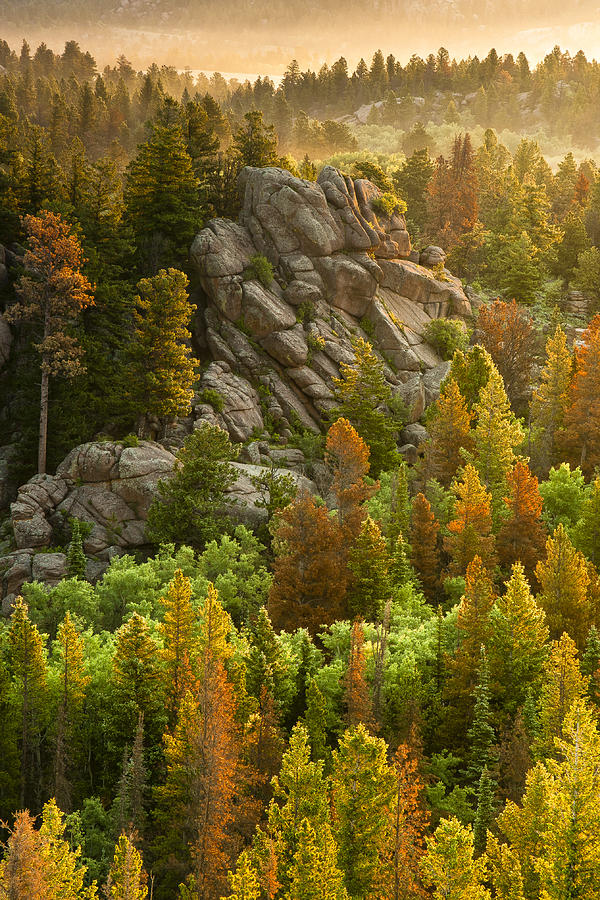 Vedauwoo Photograph - First Touch Of Light by Michael Van Beber