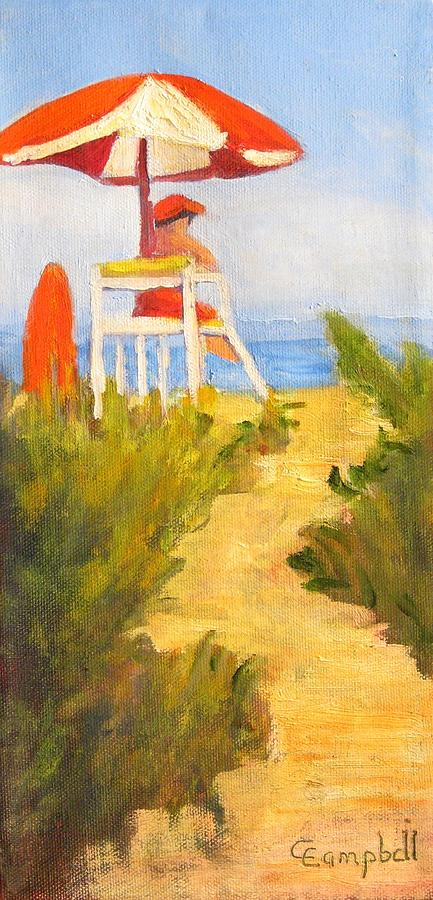 Coastal Painting - First Watch by Cecelia Campbell