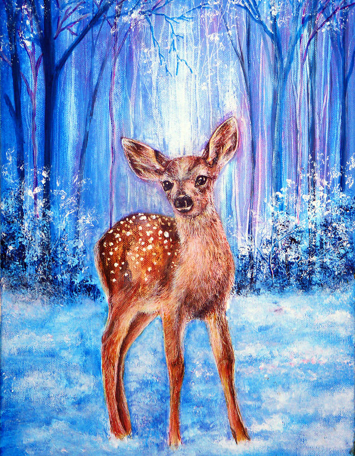Holiday Painting - First Winter by Ann Marie Bone