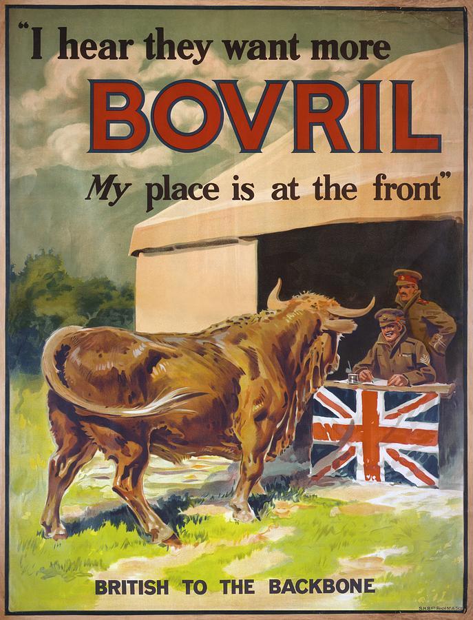 First World War Bovril Advert Photograph by Library Of Congress