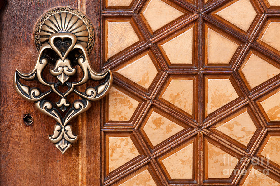 Istanbul Photograph   Firuz Aga Mosque Door 03 By Rick Piper Photography