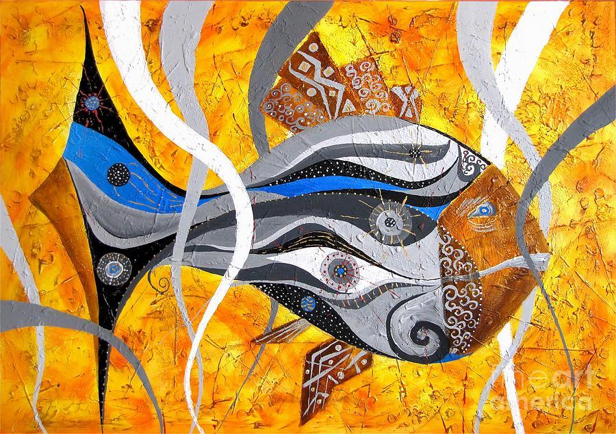 Fish Painting - Fish 0465 - Marucii by Marek Lutek