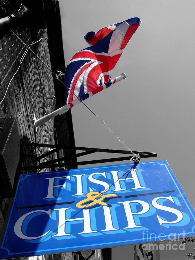 British Photograph - Fish And Chips by Samantha Higgs