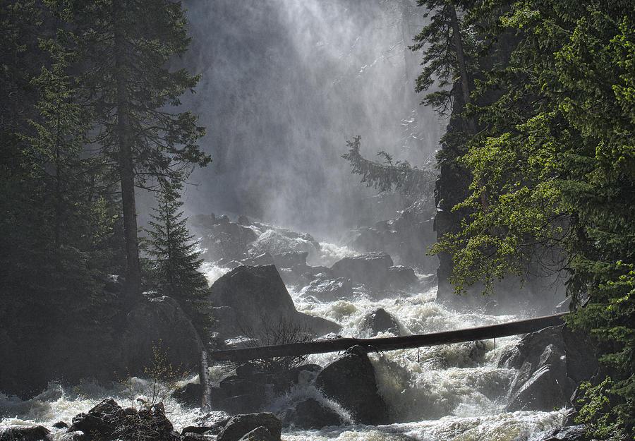 Waterfall Photograph - Fish Creek Mist by Don Schwartz