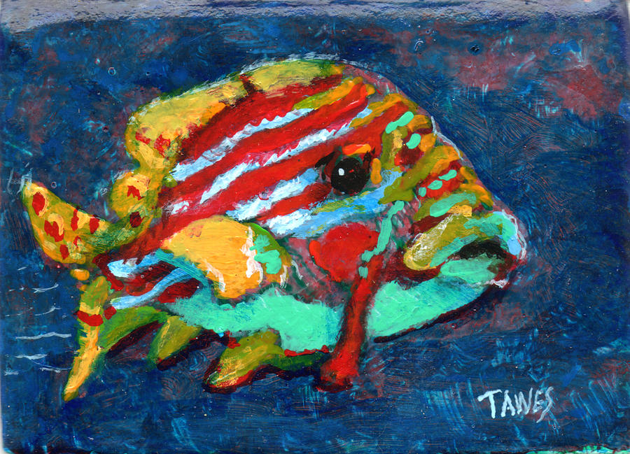 Fish Painting By Dennis Tawes