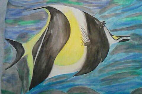 Fish Painting by Kae Mangan