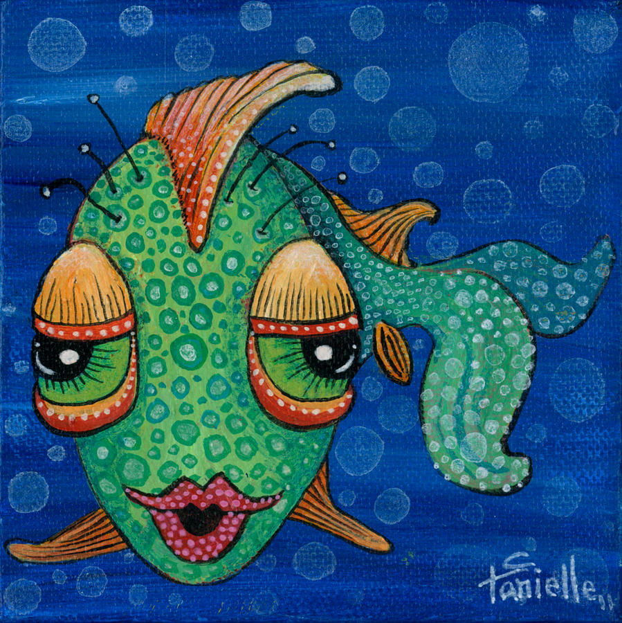 Fish Lips Painting by Tanielle Childers