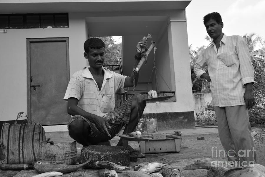 Andaman And Nicobar Island Digital Art - Fish Market 2 by Bobby Mandal