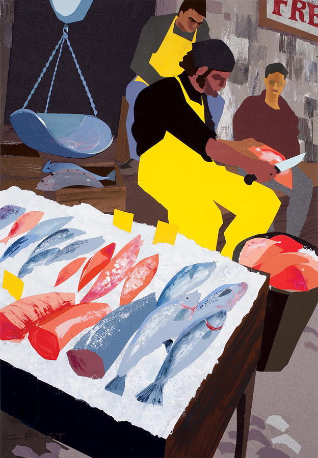 Fish Market by Clifford Faust