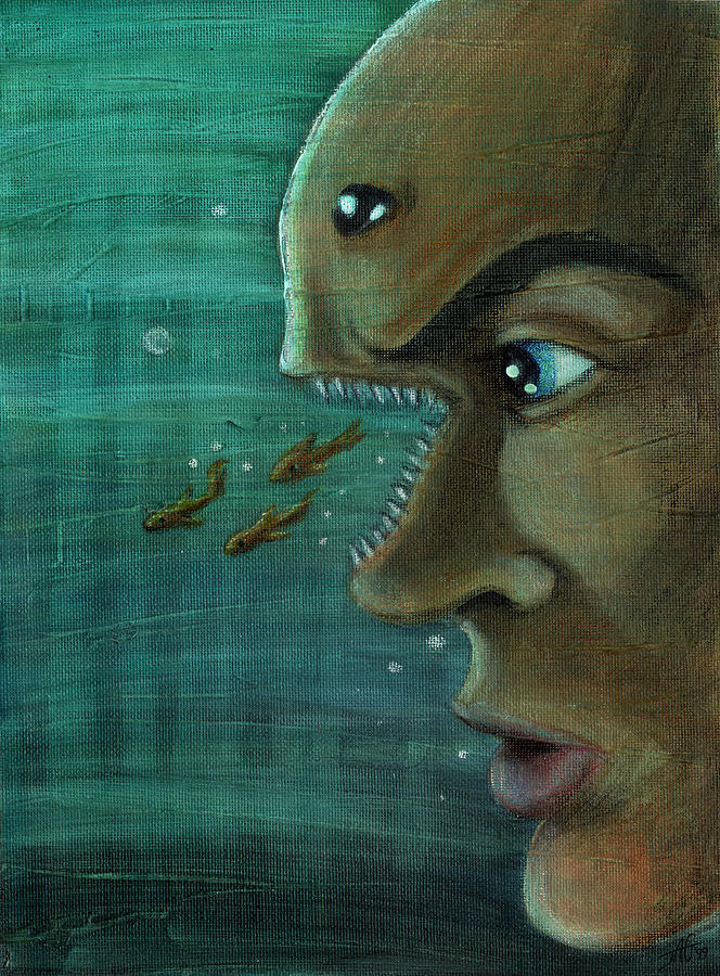 Underwater Painting - Fish Mind by John Ashton Golden