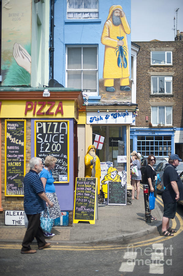 Broadstairs Photograph - Fish N Chips by Donald Davis
