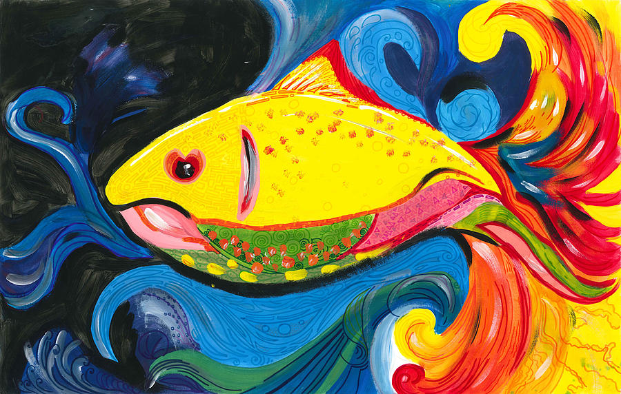 Fish Of Rainbow Painting