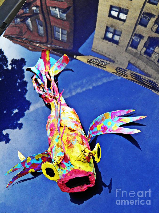 Fish Sculpture - Fish Out Of Water by Sarah Loft