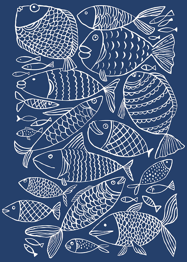Fish Pattern Digital Art by Marabird