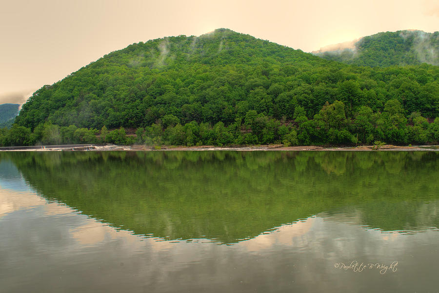 Feature Photograph - Fish Reflection Where The Kanawha Begins by Paulette B Wright