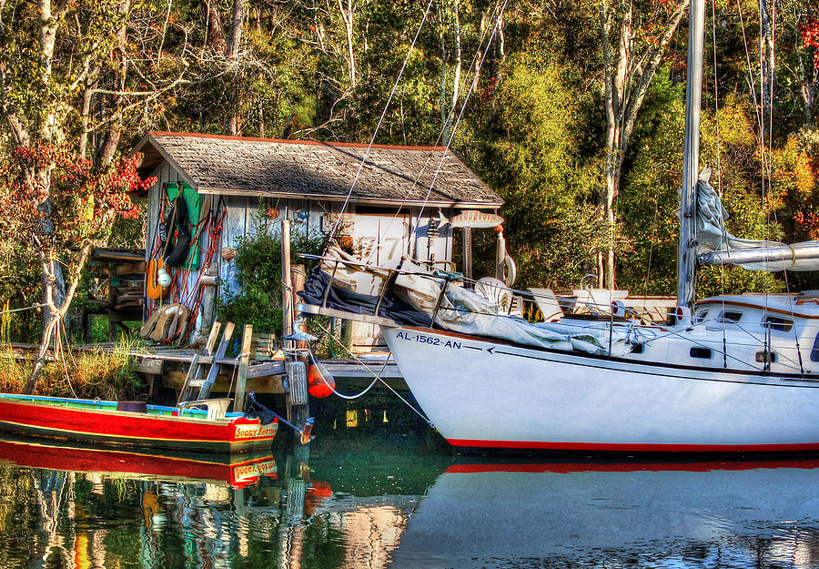 Fish Photograph - Fish Shack And Invictus Original by Michael Thomas