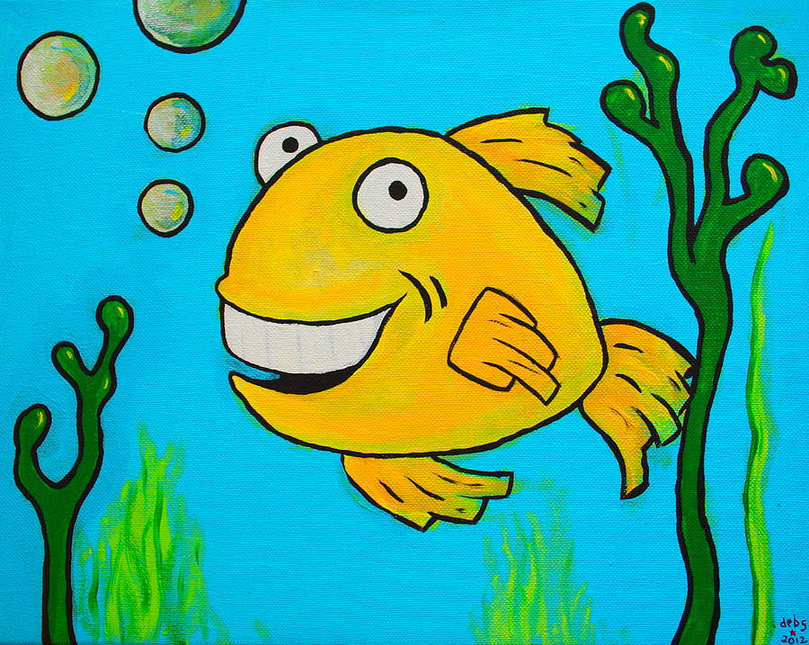 Kids Painted Fish Fish Painting by Sheep...