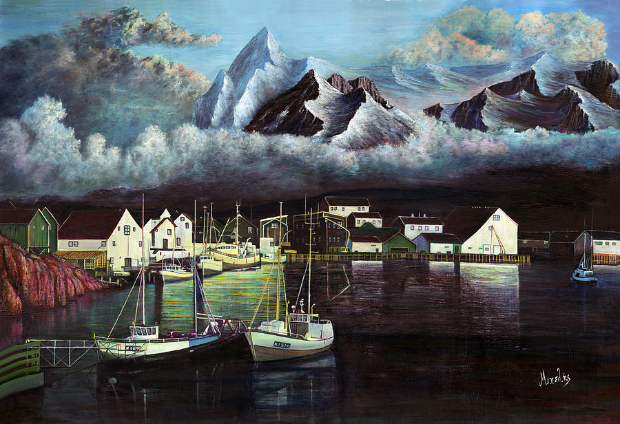 Seascapes Painting - Fish Village by Dimitrios Michelis