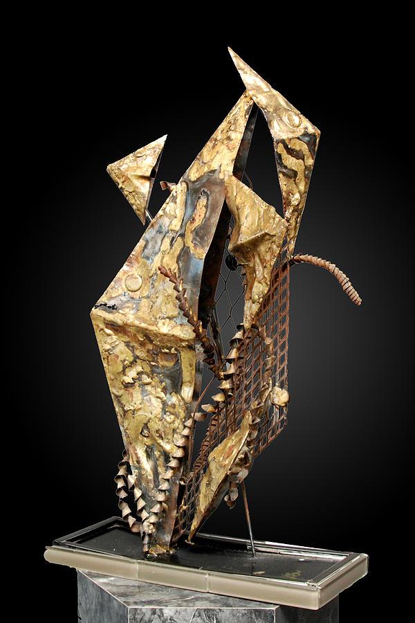 Sheet Metal Sculpture - Fisher Of Men by GK Brock